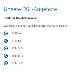 DSL für Unternehmen