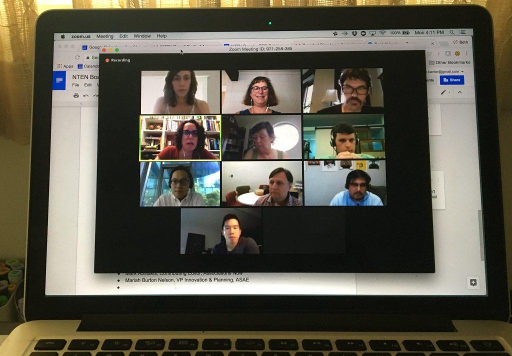 Videokonferenz in Heimarbeit